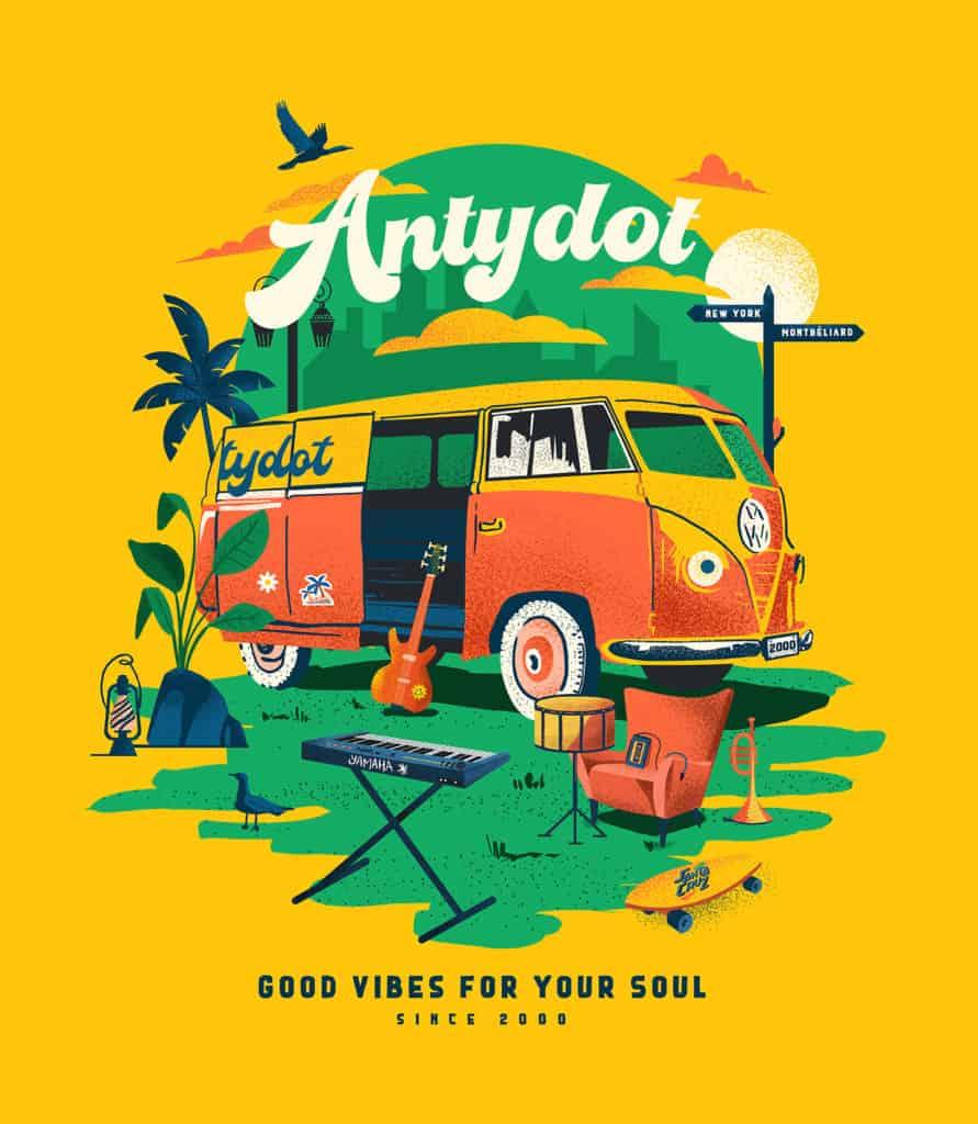 Illustration évènement musical Antydot 20 ans